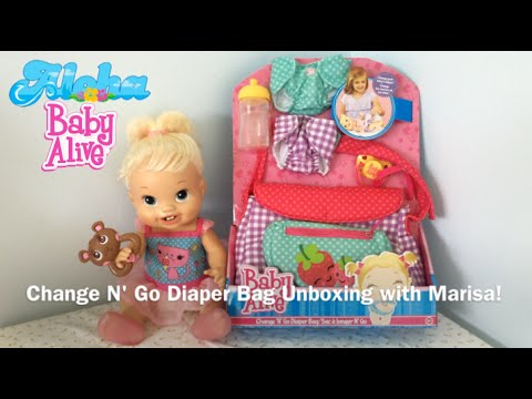 Baby Alive Change N Go Diaper Bag Unboxing With Marisa