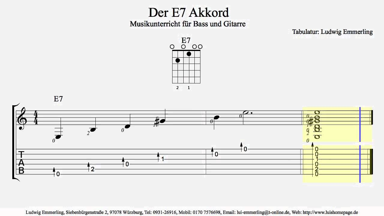 E15 Chord / Der E15 Akkord   YouTube