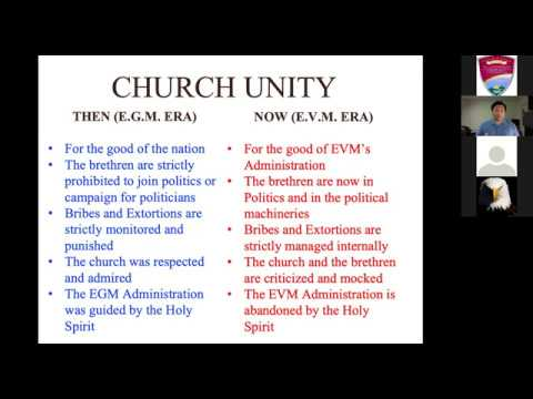 [2019.05.15] Worldwide Bible Study - Unity in Elections - Bro. Lowell Menorca II