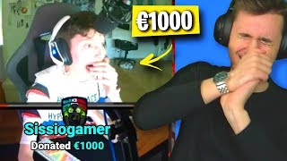 DONO €1000 A PICCOLI STREAMER