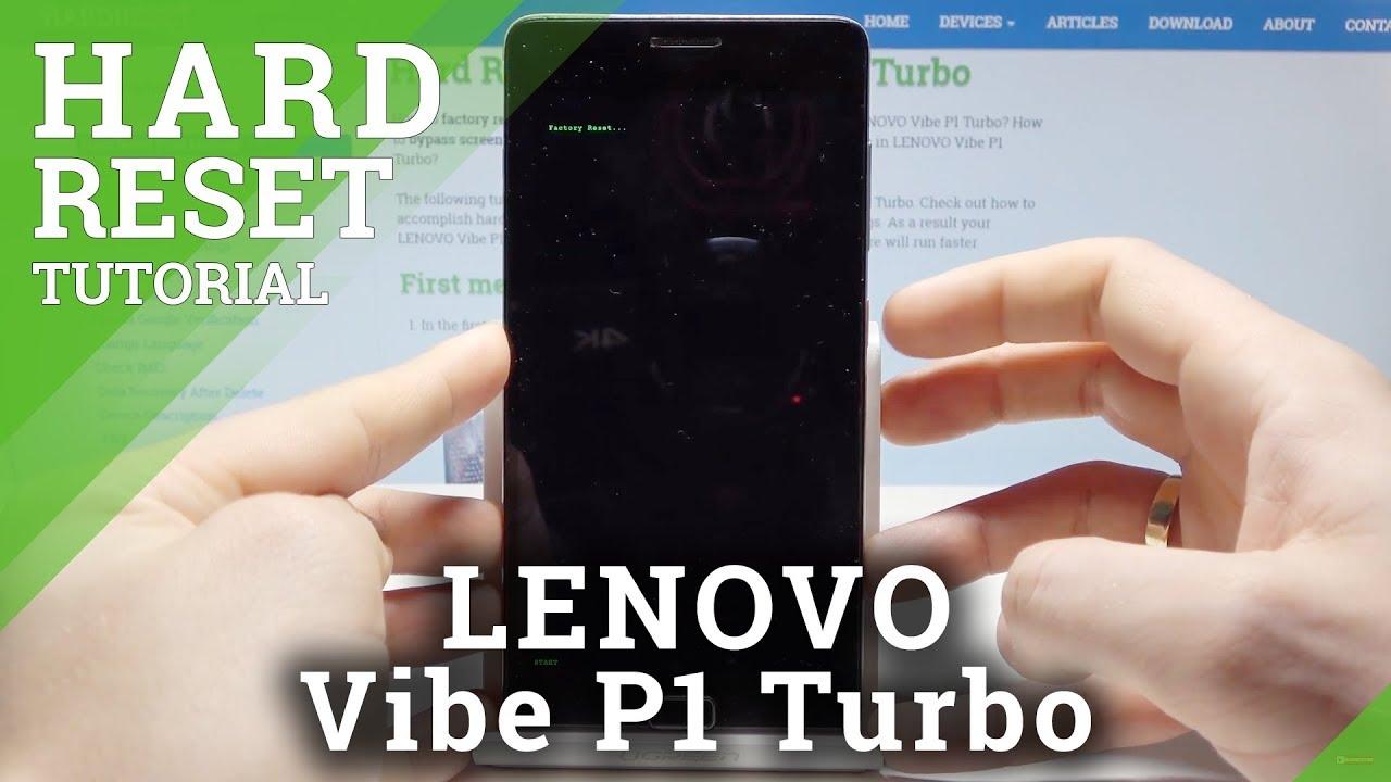 HARD RESET LENOVO Vibe P1 Turbo - Factory Mode / Bypass Screen Lock
