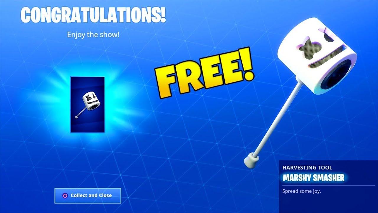 Free New Marshmello Emote Pickaxe Showcase Fortnite Battle