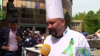 В Алматы приготовили самый большой в мире лагман