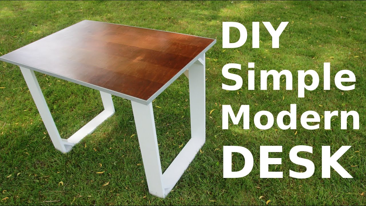 diy simple modern style desk youtube