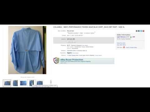 The Clothing Classroom : Episode 2 : Buying And Selling Fishing Shirts On Ebay ~ Raiken Profit