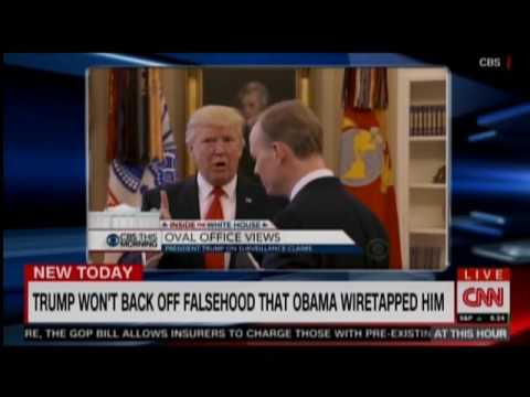 Trump Cuts Off Interview After Wiretap Claim Question