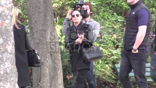 Demi Lovato shooting VIDEO CLIP and fans presence at Tour Eiffel in Paris