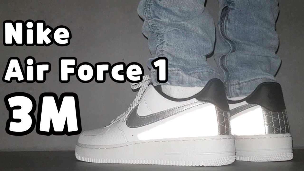 (4K) Nike X 3M Air Force 1 '07 LV8 unboxing/Nike Air Force 1 low on feet review/Nike 3M Air Force 1