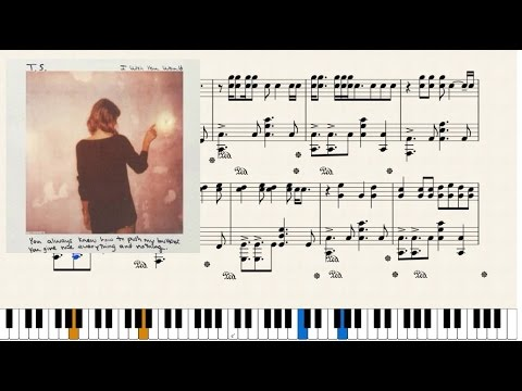 Taylor Swift I Wish You Would Piano Cover Youtube