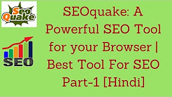 SEOquake: A Powerful SEO Tool for your Browser   Best Tool For SEO Part-1 [Hindi]