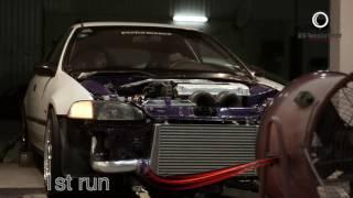 honda civic hatchback B18C type R Turbo over 400HP
