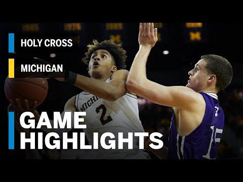 Highlights: Holy Cross at Michigan | Big Ten Basketball