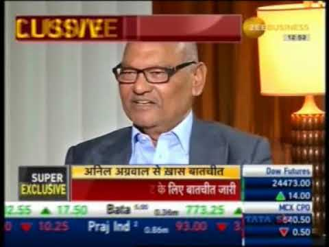Zee Business Exclusive interaction with Mr  Anil Agarwal