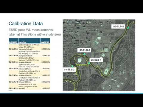 Patrick Delaney & Peter Onyshko - Hydraulic Modelling for Urban Flood Mapping on Elbow River