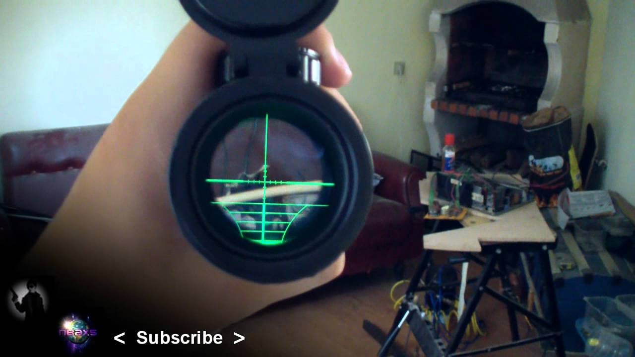 Airgun Scopes Red Dot Luminated Crosshair 32x Scope And