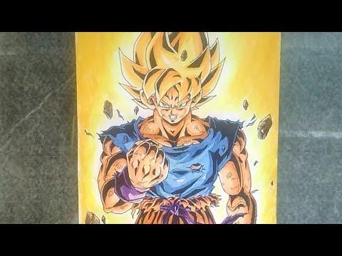 Drawing Super Saiyan Goku || SSJ1|| (First time transformed)