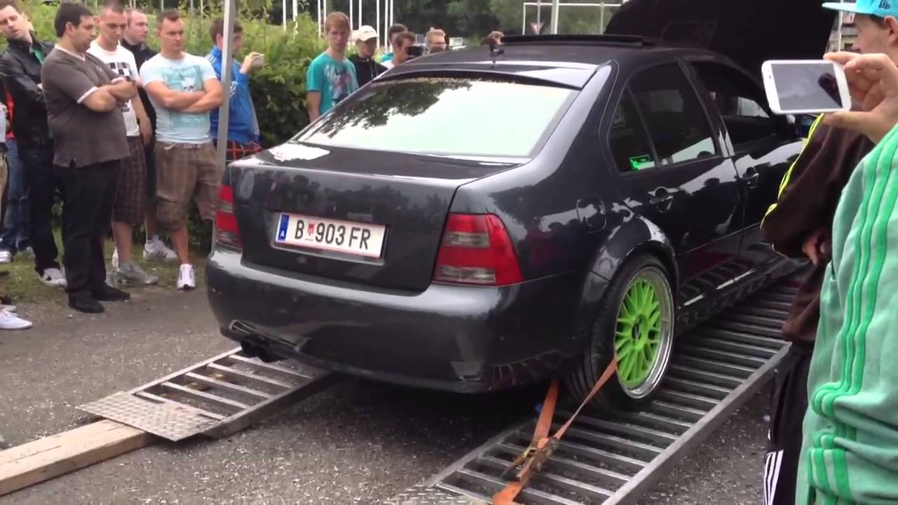 Volkswagen Bora 2.8 V6 4Motion Turbo Garrett Gt3076R Turbozentrum Hard - YouTube