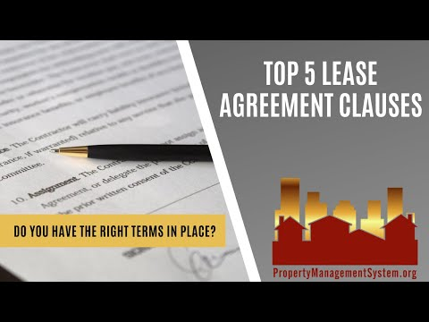 Top 5 Lease Agreement Clauses - Part 1