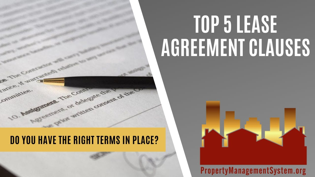Top 5 Lease Agreement Clauses Youtube