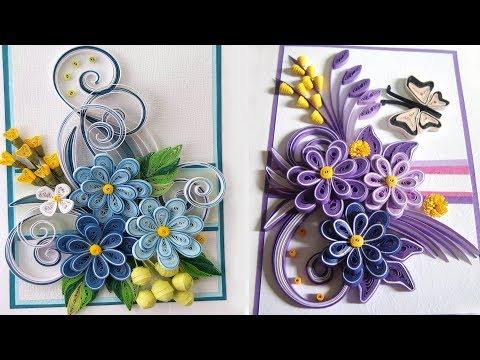 Quilling Flower V14 Tutorial | DIY Paper FLower Home Decoration
