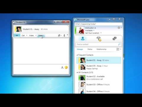 Microsoft Lync 2010:  How To Create An Instant Message