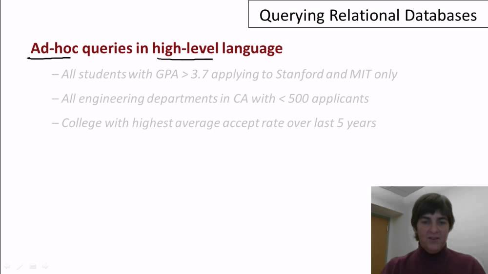 Video | Querying Relational Databases | DB1 Courseware