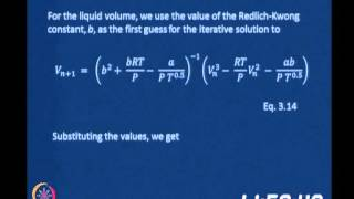 Clausius - Clayperon Equation(cont.,)vapour-Liquid Equilibrium