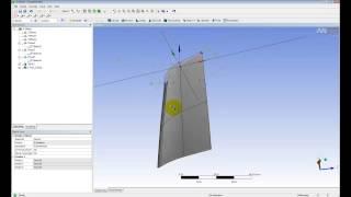 Видеоурок CADFEM VL1201 - Cоздание параметрической CAD модели лопатки в среде ANSYS Design Modeler