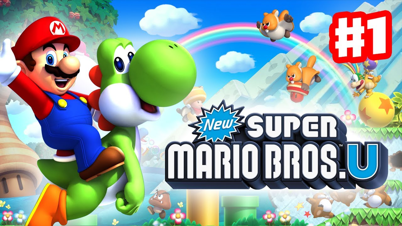 New Super Mario Bros U Walkthrough Part 1 Acorn Plains Intro