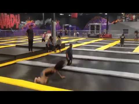 s34n and JOKR at Gravady - Indoor Trampoline Park (Gravady, Las Vegas, Nevada)
