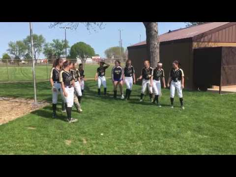 Legacy High School Girls Fastpitch Bismarck pregame dance