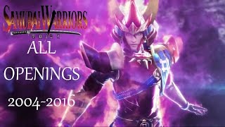 Samurai Warriors all openings (2004  - 2016)