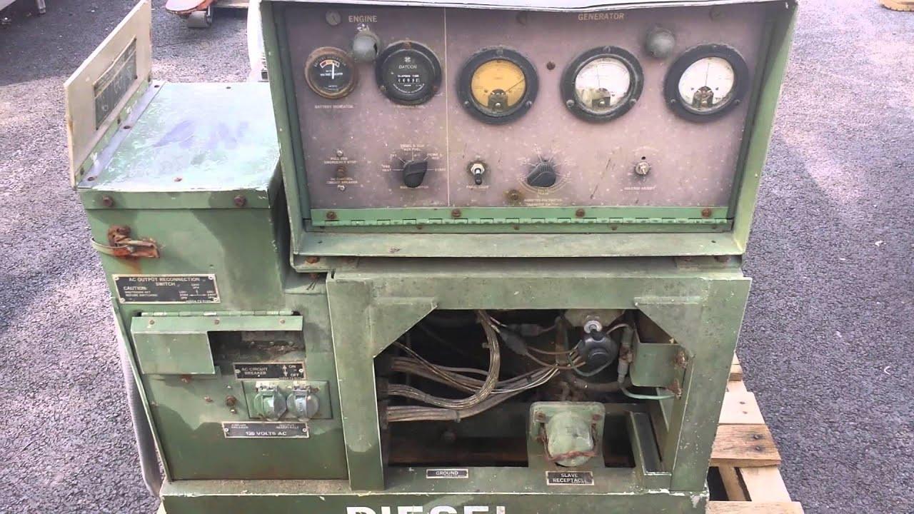 Military MEP 003A 10kW 60Hz 120 208 240V 1Ph 3Ph Diesel Generator
