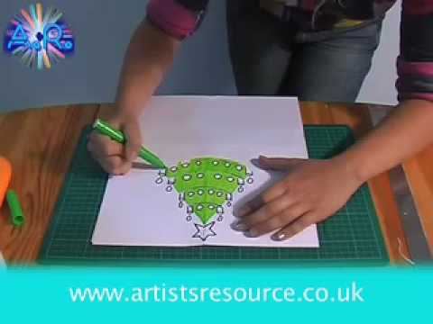 Arts & Craft Make a Christmas Card - Card Making Tutorial - YouTube