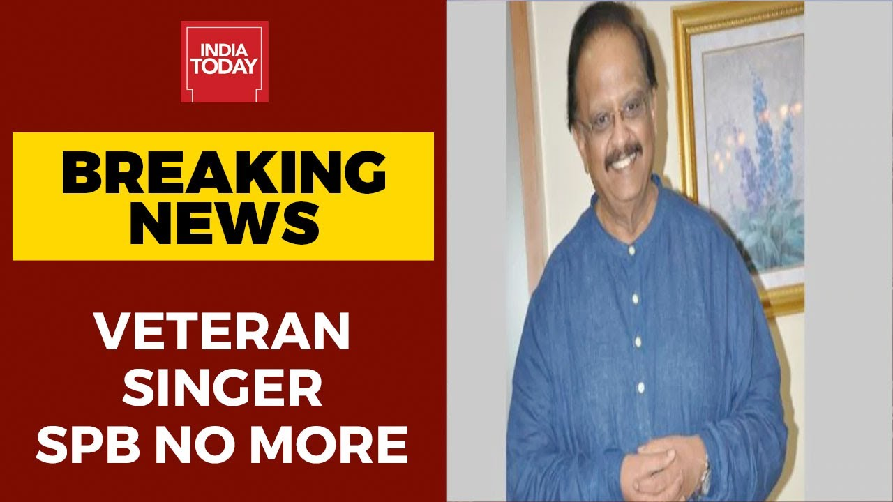 Singer SP Balasubrahmanyam dies at 74 in Chennai