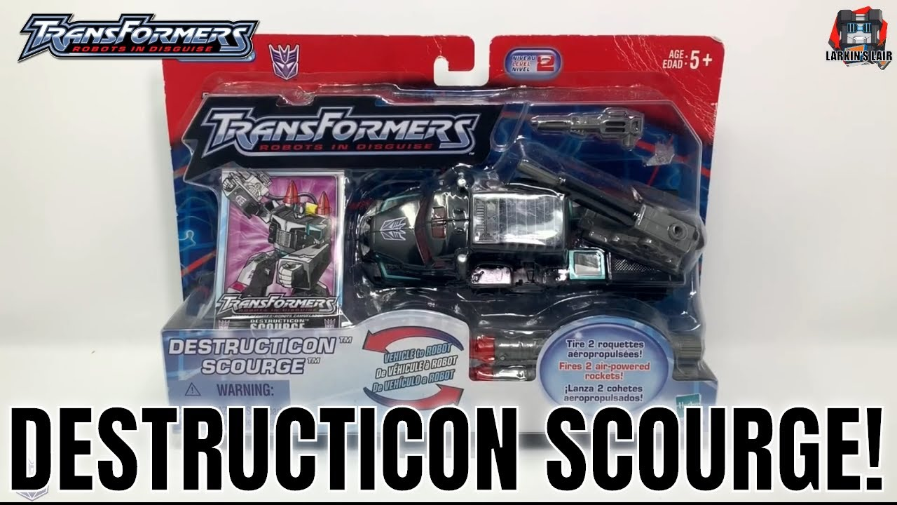 Transformers Robots in Disguise Destructicon Scourge Unboxing and Review by Larkin's Lair