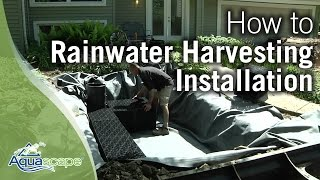 How To Install a RainXchange Rainwater Harvesting System