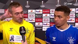 Allan McGregor and James Tavernier speak following Rangers' draw in Feyenoord