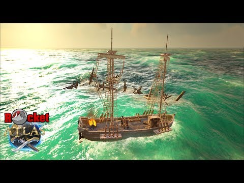 Exploring and Developing The New KUFFS Atlas Map   Atlas Pirate Survival  Gameplay   Live Episode 8