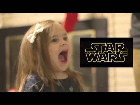 Little girl watching 'Star Wars: The Force Awakens' trailer has adorable freak out