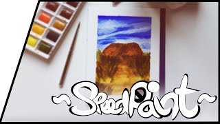 ~Aquarell/Watercolour~🏔 The Beauty of Ayers Rock🏜 【Speedpainting】~