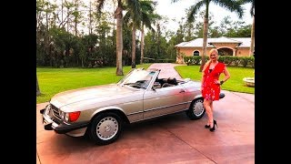 1986 Mercedes-Benz 560SL Roadster R107 Review/Test Drive w/MaryAnn For Sale By: AutoHaus of Naples
