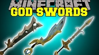 Minecraft: GOD SWORDS (THE POWER IS IN YOUR HANDS!) Mod Showcase