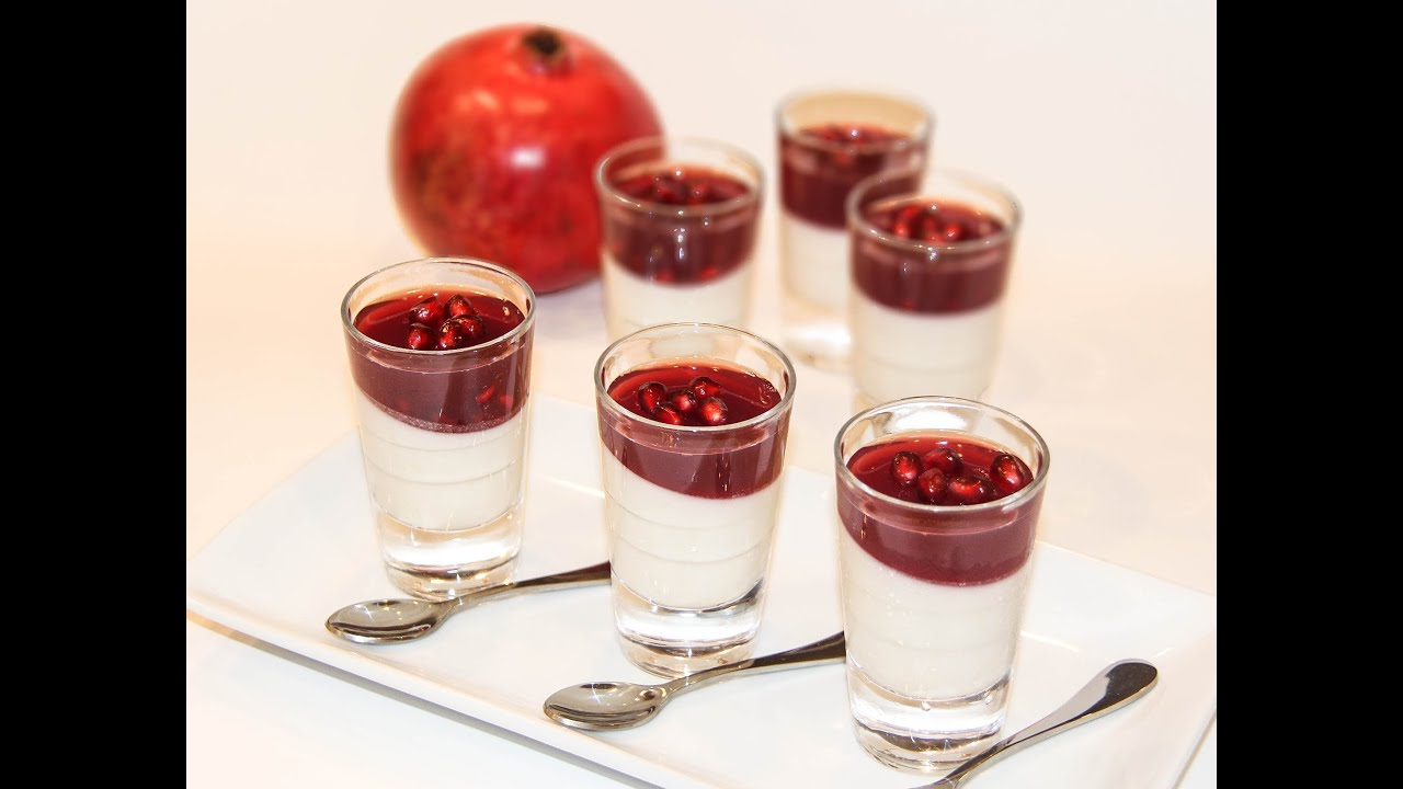Pomegranate Lemon Panna Cotta دسر انار و لیمو - YouTube