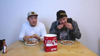 Who Can Eat More KFC Chicken Wings Challenge !