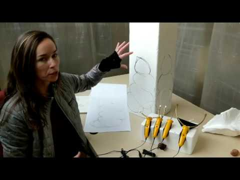 Stephanie Metz InTouch: Carving Styrofoam