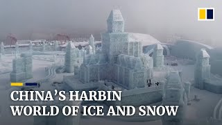 Stunning ice and snow sculptures emerge at China's Harbin festival