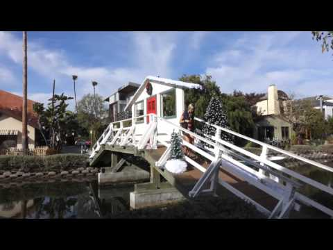 Venice Beach Canal District. The beauty of the Venice City, California. Dec 2015