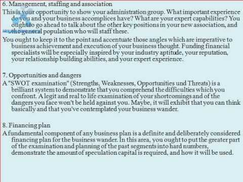 What should a business plan look like