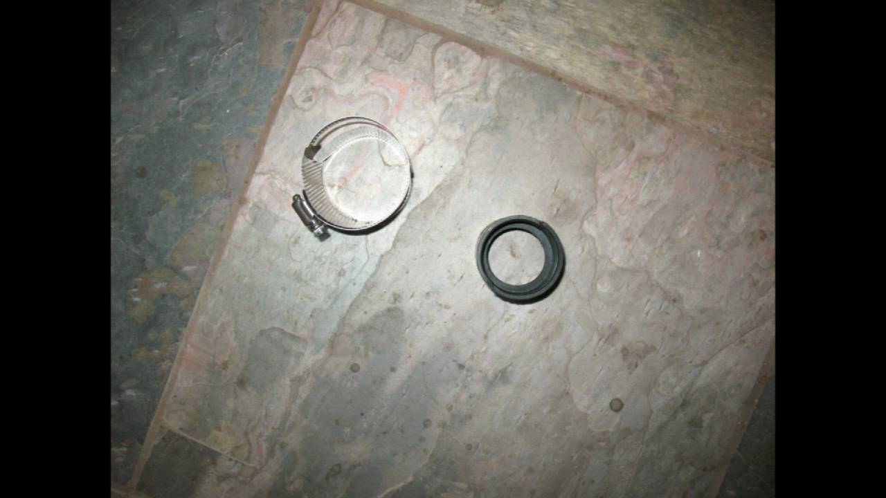 Broken kitchen sink water leak problem rubber coupling
